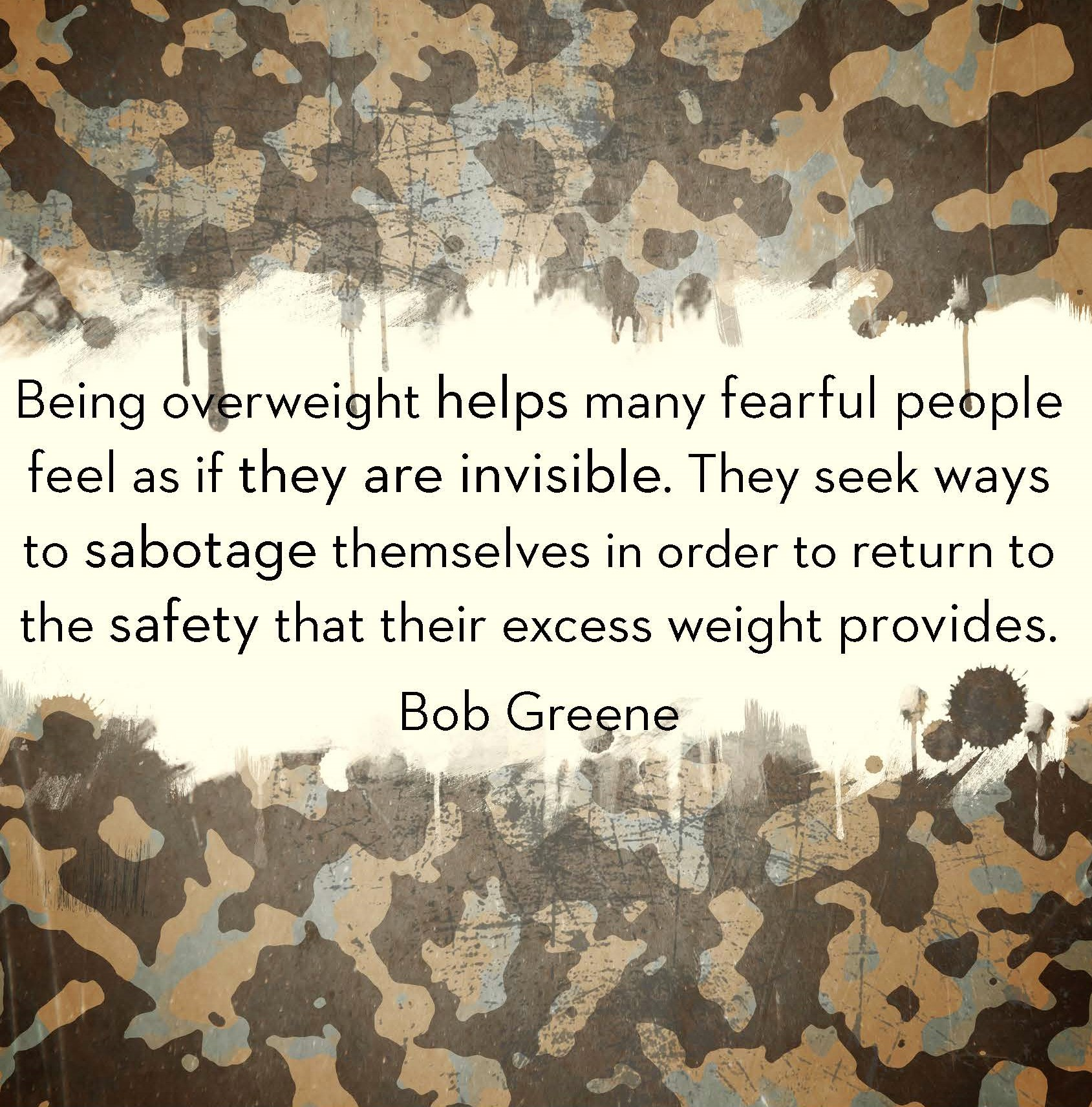 Being overweight Quote