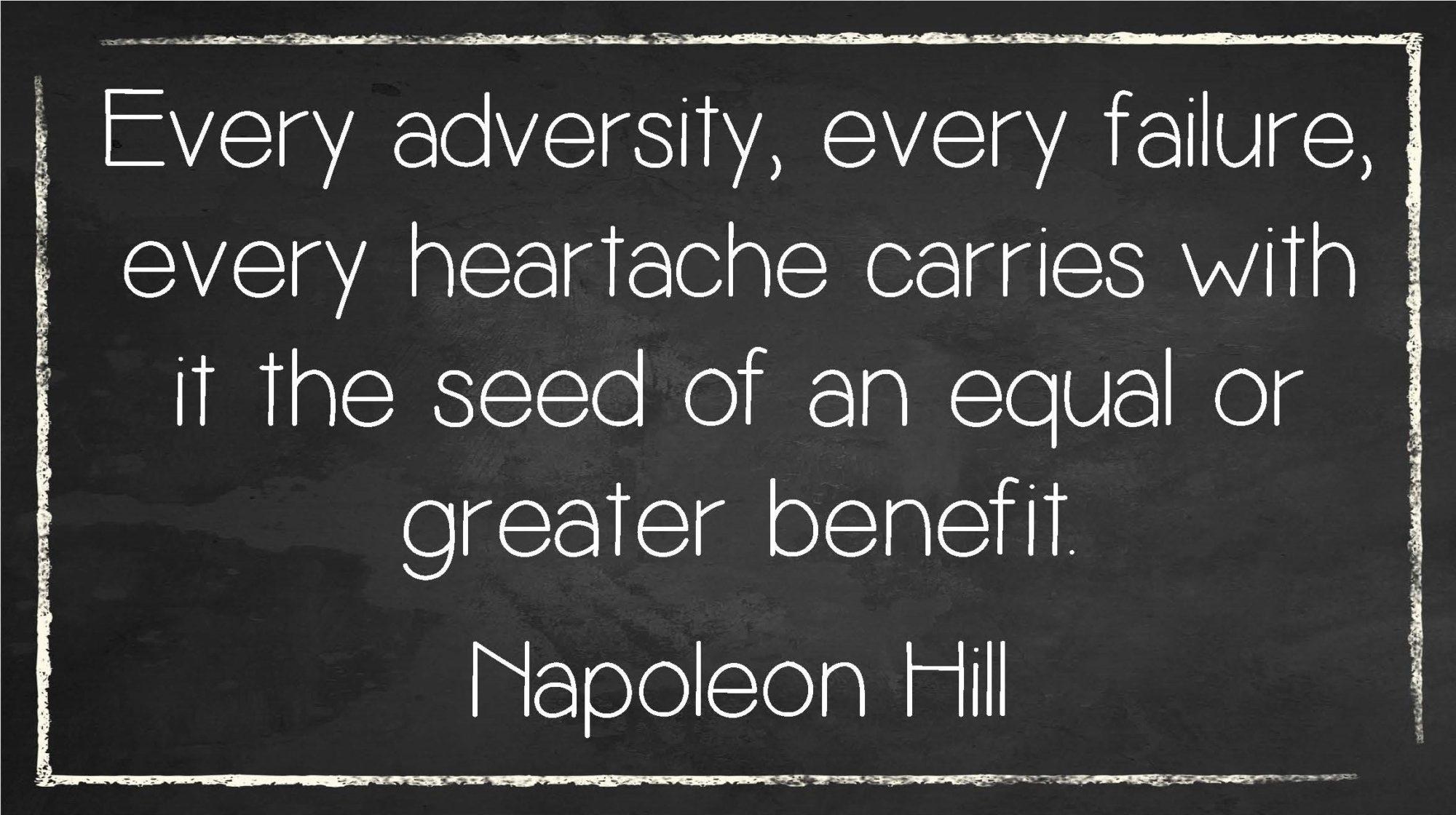 Every adversity Quote