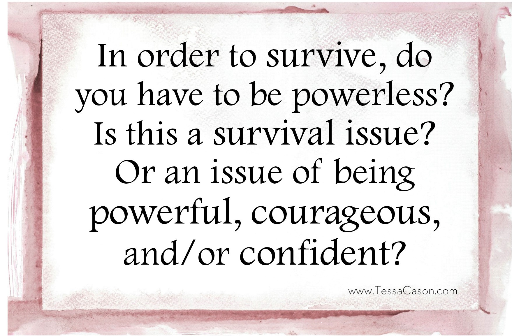 In order to survive question