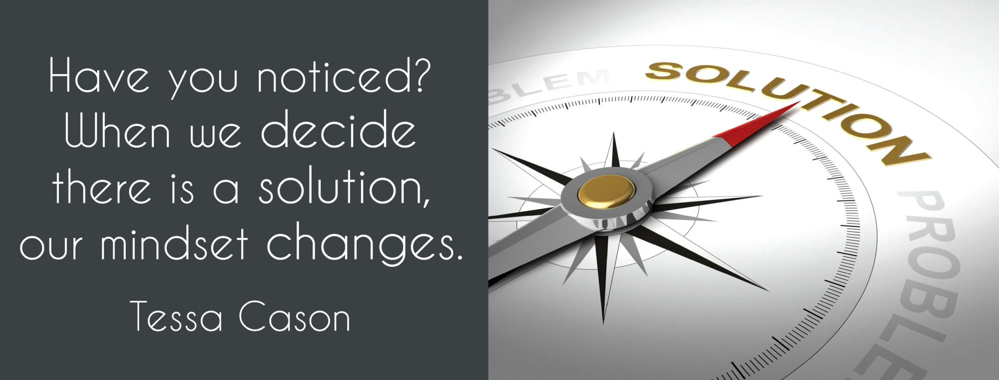 Solution Mindset Quote