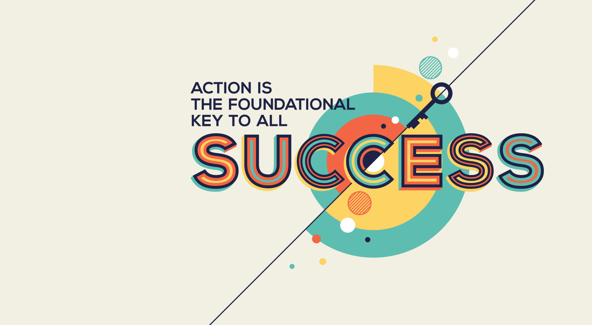 Success quote in geometric style