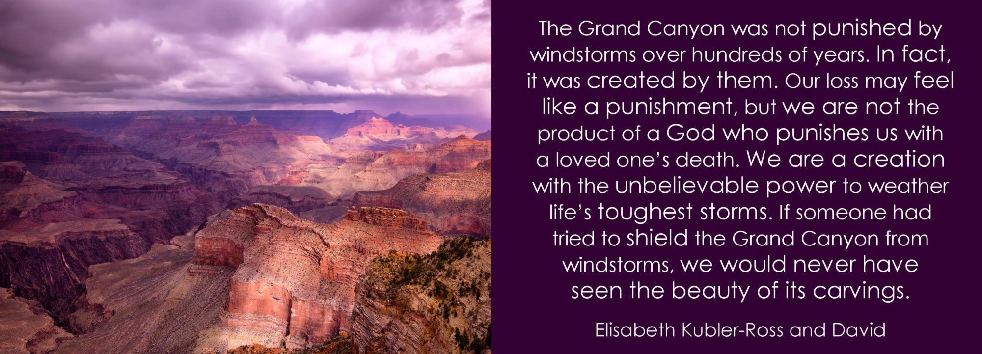 The Grand Canyon was not punished by...