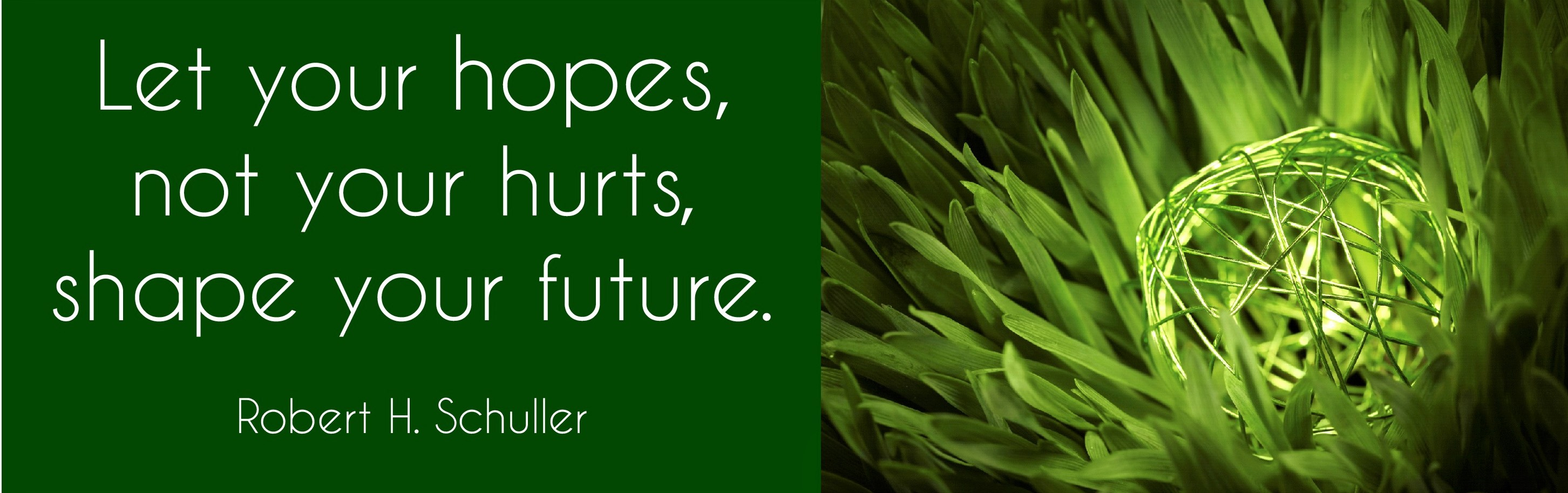 Let your hopes shape your future