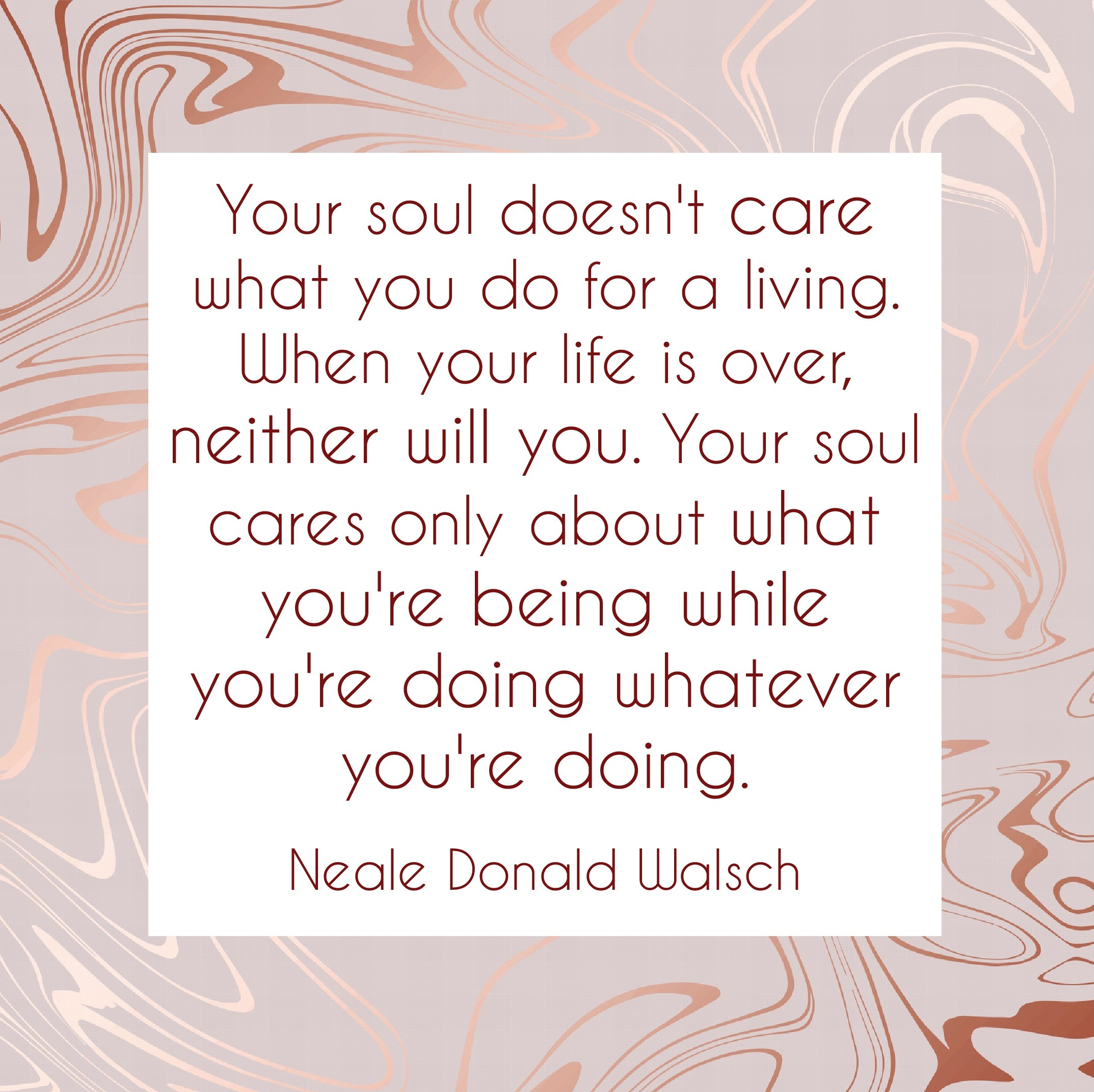 Your Soul Doesn't Care