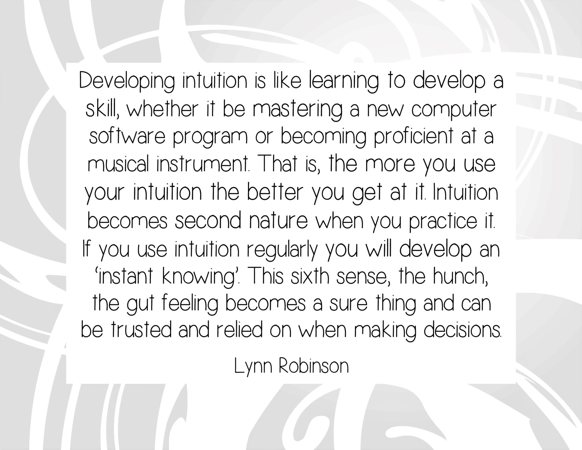 Developing Intuition is Like Learning to Develop