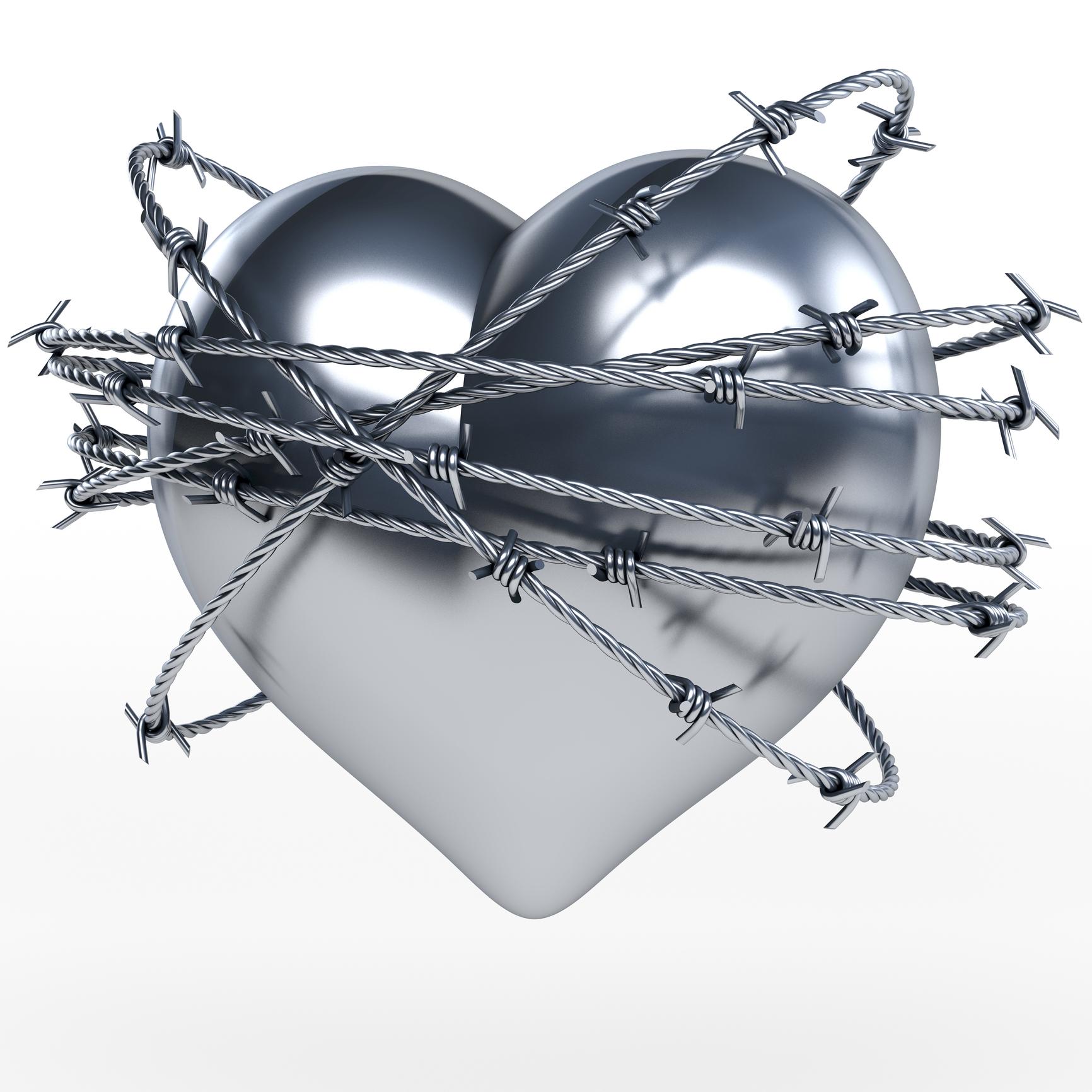 Heart Shiny wth Barbwire