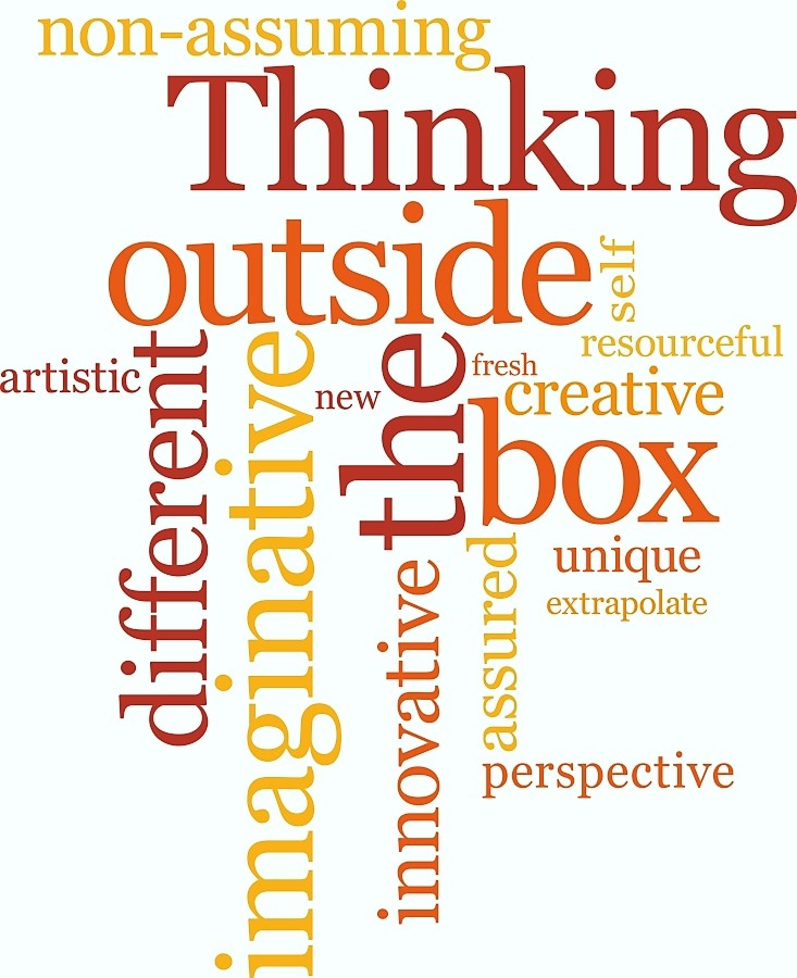 Thinking outside the box word cloud opt