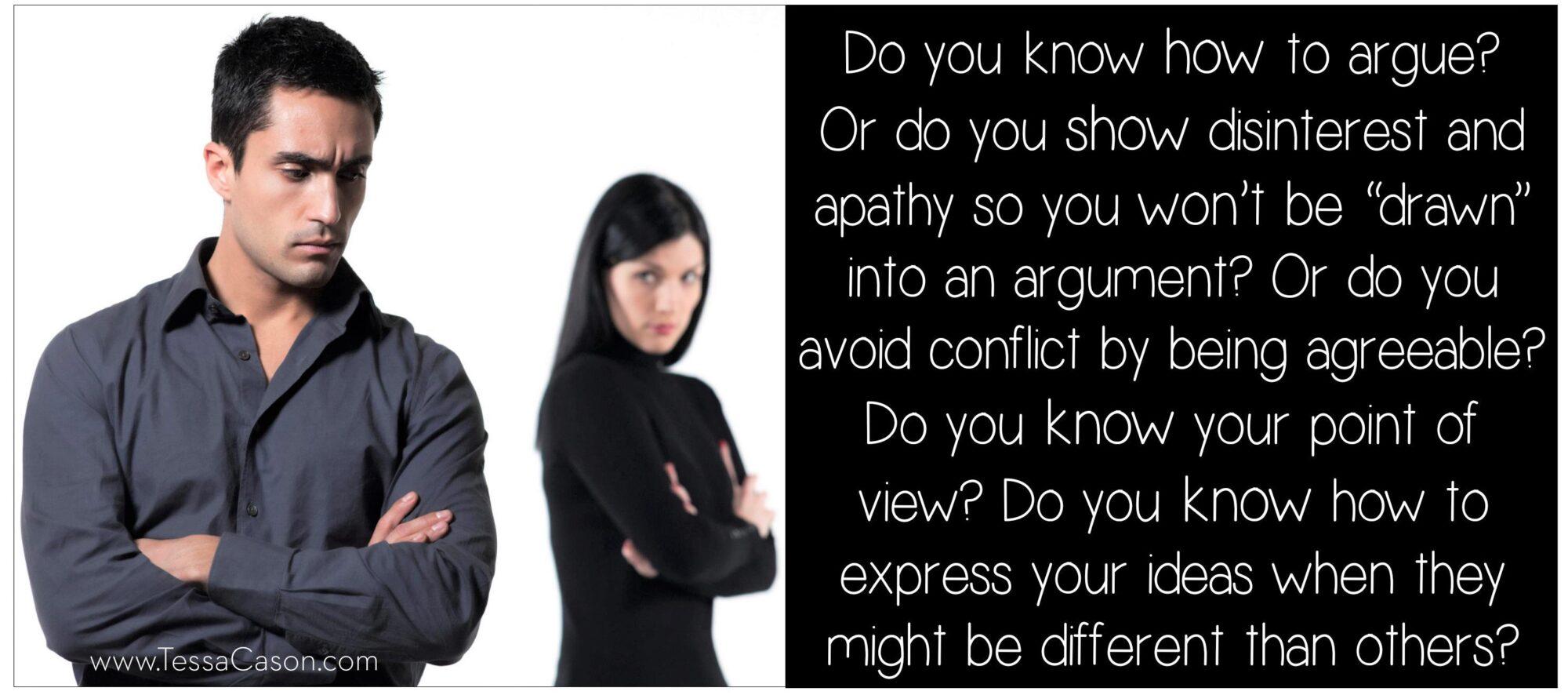 Do you know how to argue