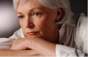 Sad Senior Woman